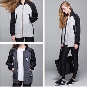 Lululemon both ways reversible bomber jacket